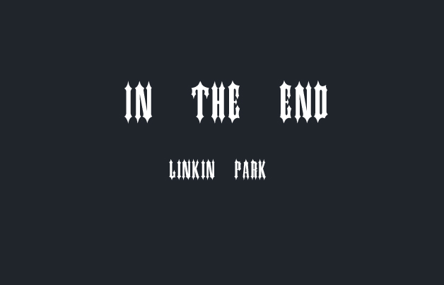 《in the end》