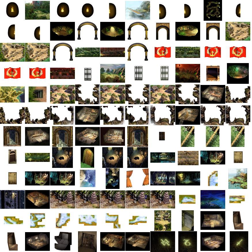 素材-《天之痕》全部地图素材