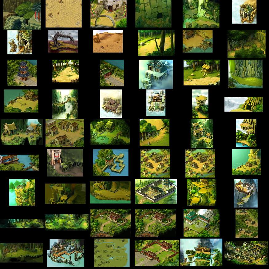 地图素材,如果可能的话也许可以做地图远景图