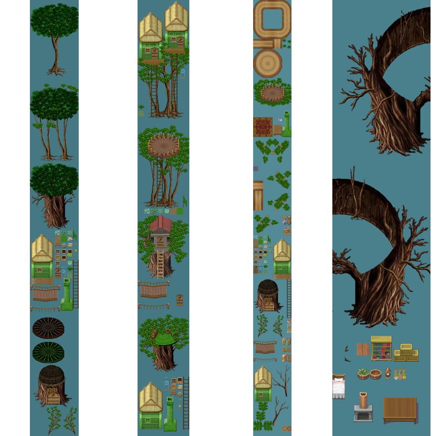 素材-树屋地图素材 | 66rpg